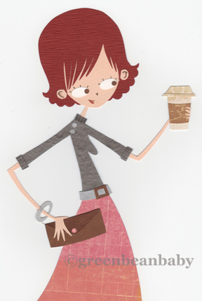 Girl with coffee
