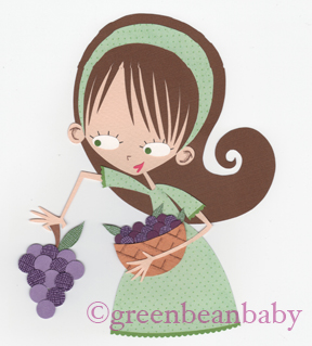 Grapes girl